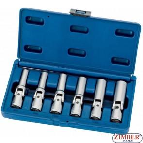 Set chei tubulare cu cardan pentru bujii incandescente - 6 buc.ZR-03GPSS06 - ZIMBER TOOLS