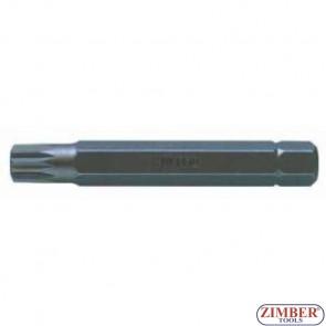 Bit Spline M10x75mm, ZR-15B1075M10 - ZIMBER TOOLS