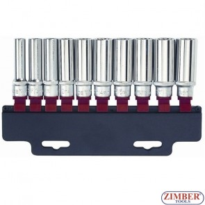 "Set 1/2"" Chei Tubulare Spline, lung 10pc - 41014Q -  Force"
