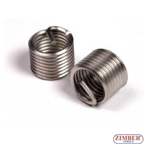 INSERTIE SPIRALATA REPARAT FILETE -  M10 x 1,0 x 13,5mm, 1 buc- ZIMBER-TOOLS