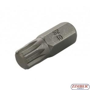 Bit Spline M10 x 30mm - ZR-15B1030M10 - ZIMBER TOOLS