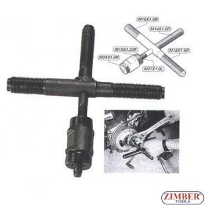 Extractor pentru volante de motociclete - ZR-36FP - ZIMBER TOOLS