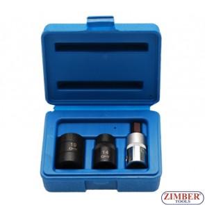 "Trusa cheie pentagonala 1/2"", 10mm, 14mm, 19mm, ZL-405P - ZIMBER TOOLS."