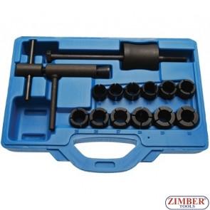 Set pentru inlocuit piston in cilinndru de frana pentru moto, diametru piston 19-30mm. 14.buc - BGS