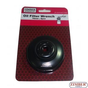 Cheie pentru filtru de ulei 76 mm x 8 laturi. Fiat, Lancia & Motoguzi motorcycles -ZR-36OFWCT7608 - ZIMBER TOOLS