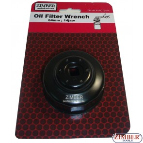 Cheie pentru filtru de ulei 64 mm x 14 laturi,Subaru,Mazda,Lexus,Toyota- ZIMBER TOOLS