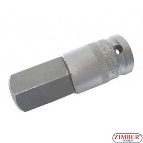 "Capete chei profil hexagonal  22х70 mm  1/2""- Hexagon 22 mm (ZB-4295) -BGS-PROFESSIONAL"