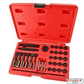 Trusa reparat filet bujie  8mm / 10mm / 12mm 33-Piese - ZT-01Z5194 - SMANN TOOLS.