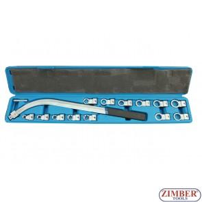 Trusa cu chei pentru tensor curele auxiliare 15buc. - ZR-36CPHWS15  - ZIMBER-TOOLS.