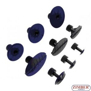 Ventuze pentru truse de reparat lovituri caroserii. 9-buc (ZR-41PDDMK9) - ZIMBER-TOOLS.