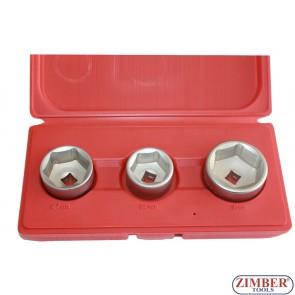Set tubulare pentru filtre ulei 27mm, 32mm, 36mm , ZR-36OFS03 - ZIMBER TOOLS