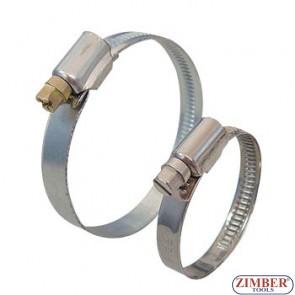 Colier pentru furtun din otel  70-90mm, ZL-SS90 - ZIMBER TOOLS