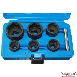 Trusa de tubulare pentru suruburi uzate si antifurt 6 buc - ZIMBER