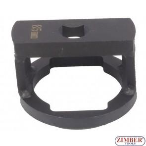 """Cheie pentru nuca axului BPW, cu profil special drept sau oval  3/4,"""" 85-mm, ZR-36ANSWC85 - ZIMBER TOOLS."""
