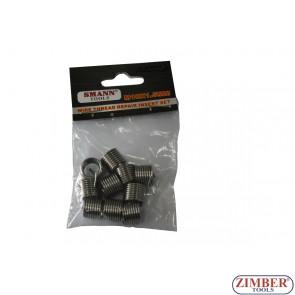 Insertii pentru reparatie filet  M10 X 1.25 X 13.5 mm, 10-buc -  ZT-04J1236- SMANN TOOLS