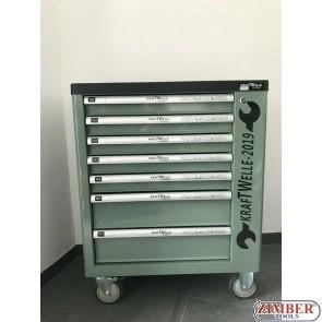 Dulap cu 7 sertare echipat cu scule,ZK-1607- KRAFTWELLE