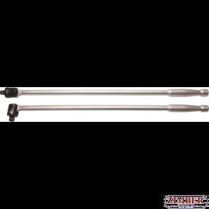 Maner de forta cu cap flexibil pentru tubulare cu antrenare de 1/2'' (12.5mm), lungime 610mm (267) - BGS technic
