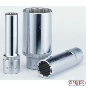 "Cheie tubulara lunga 1/2"", 21 -mm  (12- pereti) -  5497721  - FORCE."