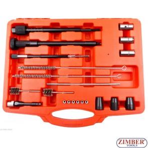 Set pentru rectificat scaune si lacas injectoare + extractor pentru saiba etansare injector- ZT-04A3045 - SMANN TOOLS.
