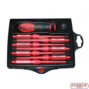 Insulated screwdriver set (ZL-S5607) - ZIMBER TOOLS