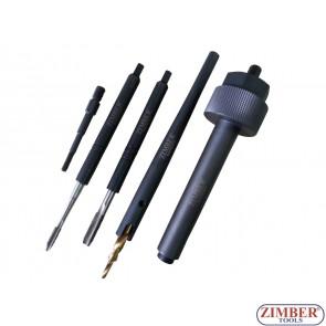 Extractor pentru bujii incandescente rupte 5 buc. ZR-36GPRS05 - ZIMBER TOOLS