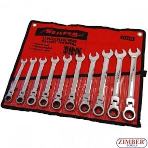 Set chei combinate cu clichet | capete flexibile | 10 - 19 mm | 10 piese ,3229 - NEILSEN.