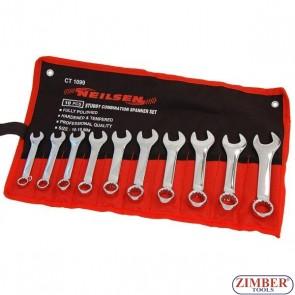 Set chei combinate extra scurte 10 - 11 - 12 - 13 - 14 - 15 - 16 - 17 - 18 - 19 mm, 10 piese - 1099 - Neilsen