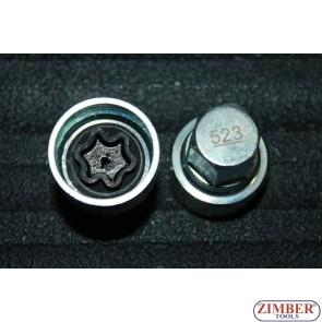 Tubulara speciale pentru antifurt roti VW Golf Passat T4 -523- ZIMBER TOOLS