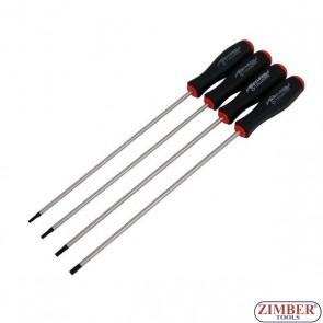 Set surubelnite Torx  lungi T15, T20, T25, T30-250-mm, 4-piese -2899- NEILSEN.