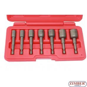 Set extractor, 7-buc. ZR-36PFES1407 - ZIMBER-TOOLS