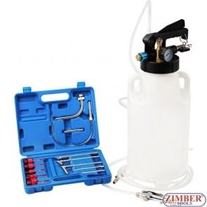 Pompa pentru schimb de ulei la cutii automate, actionare pmeumatica 13 buc. ATF / 8L, ZT-04B1091- SMANN TOOLS.