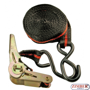 Chinga cu clicket pentru ancorare, lungime 5m, latime 24mm, forta de tractiune 120Kg(3553) - Kraftmann