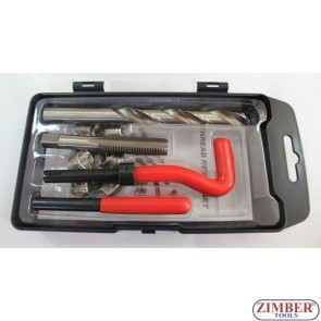 Trusă de reparat filet - M10*1.0*13.5-mm. 15-buc (ZT-04187D) - SMANN TOOLS.