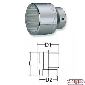 "Cheie tubulara pentru piulita butuc 65-mm 12-pereti,  MERCEDES BENZ / IVECO-  3/4""-2-1/4"" -S04H6456-  JONNESWAY."