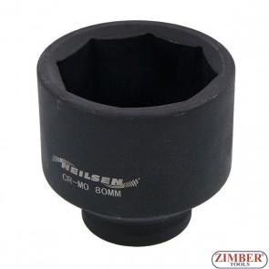 Cheie tubulara pentru butuc punte fata Scania 80-mm ( 8-pereti) - 4262 -NEILSEN