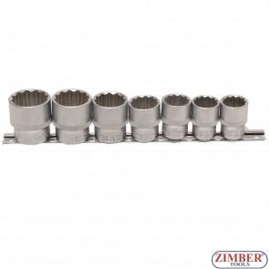 "Set chei tubulare 20 - 32 mm, 12 colțuri, antrenare 1/2"", 7 piese. 9109 -BGS technic"