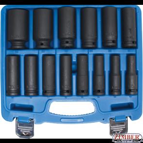 Set tubulare de impact adanci 10 mm - 32 mm, antrenare 1/2'', 14 piese, 5207 - Bgs technic