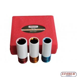 "Set tubulare impact pentru jante de aluminiu 1/2"" 17-mm, 19mm 21 mm, ZT-01136 - SMANN TOOLS."