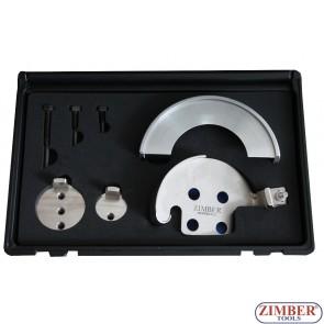 Set universal cu dispozitive speciale pentru montat curele elastice de accesorii  BMW, Alfa Romeo, Citroen, Chrysler, Fiat, Mazda, Opel,LANCIA, FORD, VOLVO- ZR-36IT01 - ZIMBER TOOLS.
