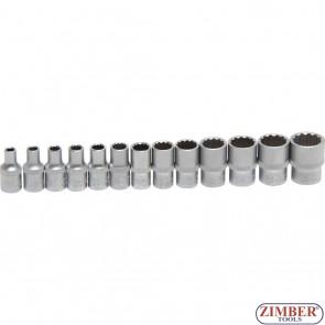 "Set chei tubulare 12 colțuri | 6,3 mm (1/4"") | 4 - 14 mm | 13 piese. 2269 - BGS- technic."