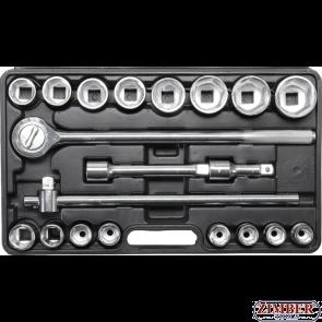 "Trusa Tubulara CROWA 3/4"" cu 6.pereti 19-50 mm 20 buc. (1202) - BGS technic"