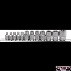 Set tubulare E-uri pe blister E4-E20, act.1/4''+3/8'', 12 piese (2038) - BGS technic
