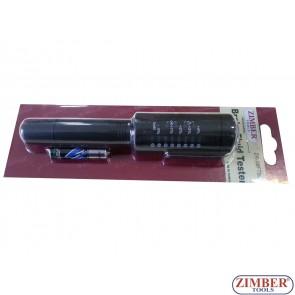 Tester profesional pentru verificat calitate lichid de frana  DOT 3, DOT 4, DOT 5.1-ZR-36FTB04 - ZIMBER TOOLS