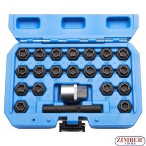 Trusa cu chei speciale pentru suruburi antifurt BMW (22buc.) - ZR-36BWBLS22 - ZIMBER TOOLS.