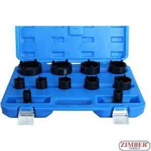 Truse de tubulare (Speciale cu 4 dinti, pentru automobile) 11-buc, 22-75 mm - ZT-04B1081 - SMANN TOOLS.