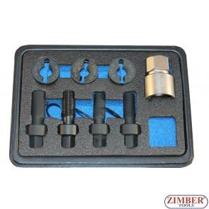 Set reparatii filete pentru prezoane si piulite de roti M12 x 1.25 , M12 x 1.5, M14 x 1.5 - ZR-36WITK01 - ZIMBER TOOLS.