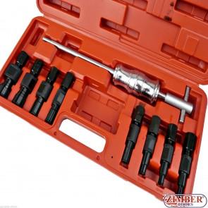 Trusă pentru extras rulmenţi şi bucş cu ciocan glisant 8~32mm. ZR-36BHPS -  ZIMBER TOOLS.