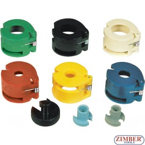 Set de scule pentru deconectat tuburi de aer conditionat si combustibil,  ZT-04069 - SMANN TOOLS.
