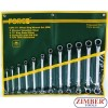 Set chei inelare cu cot  6mm - 32mm 12 buc - FORCE - 51213P