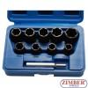 "Trusa Extractor Suruburi Antifurt sau Rotunjit  10 -19 milimetri 10 buc 1/2"" - BGS"